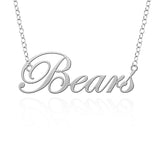 Mercer Bears  Sterling Silver Cutout Script Necklace