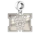 Mercer Bears Natural Finish Logo Dangle Charm