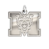 Mercer Bears Sterling Silver Natural Finish Charm