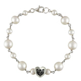 Mercer Bears Sterling Silver Tin Cup Heart Bracelet