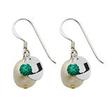 Miami Hurricanes Color and Freshwater Pearl Earrings