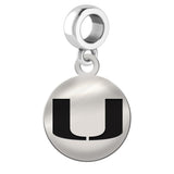 Miami Hurricanes Round Drop Charm