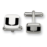 Miami Hurricanes Stainless Steel Cufflinks