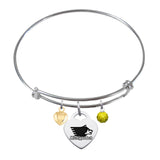 Michigan Tech Huskies Sterling Silver Bangle Bracelet