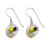 Michigan Tech Huskies Color and Freshwater Pearl Earrings