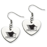 Michigan Tech Huskies Heart Drop Earrings