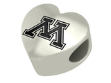 Mississippi Ole Miss Heart Bead
