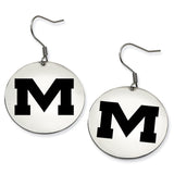 Mississippi Ole Miss Rebels Stainless Steel Disc Earrings