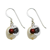 Missouri State Bears Color and Freshwater Pearl Earrings