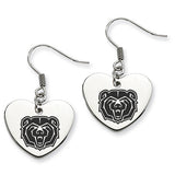 Missouri State Bears Heart Drop Earrings