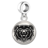 Missouri State Bears Round Drop Charm