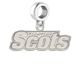Monmouth Fighting Scots Natural Finish Logo Dangle Charm