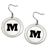 Monmouth Fighting Scots Stainless Steel Disc Earrings