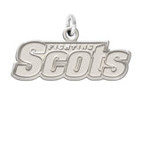 Monmouth Fighting Scots Sterling Silver Natural Finish Charm