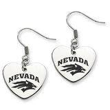 Nevada Wolfpack Heart Drop Earrings