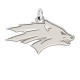 Nevada Wolfpack Sterling Silver Natural Finish Charm