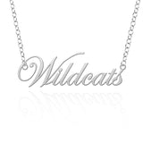 New Hampshire Wildcats Sterling Silver Cutout Script Necklace