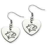 New Hampshire Wildcats Heart Drop Earrings