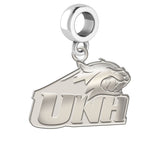 New Hampshire Wildcats Natural Finish Logo Dangle Charm