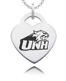 New Hampshire Wildcats Sterling Silver Heart Charm