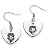 New Mexico Lobos Heart Drop Earrings