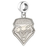 New Mexico Lobos Natural Finish Logo Dangle Charm