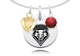 New Mexico Lobos Necklace with Charm Accents