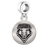 New Mexico Lobos Round Drop Charm