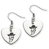 New Mexico State Aggies Heart Drop Earrings