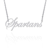 Norfolk State  Sterling Silver Cutout Script Necklace