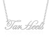 North Carolina Tar Heels Sterling Silver Cutout Script Necklace