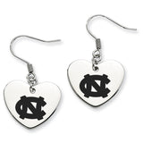 North Carolina Tar Heels Heart Drop Earrings