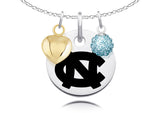 North Carolina Tar Heels Necklace with Charm Accents