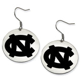 North Carolina Tar Heels Stainless Steel Disc Earrings