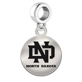 North Dakota Fighting Hawks Round Drop Charm