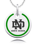 North Dakota Fighting Hawks Round Enamel Charm
