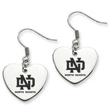 North Dakota Fighting Hawks Heart Drop Earrings
