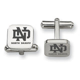 North Dakota Fighting Hawks Stainless Steel Cufflinks