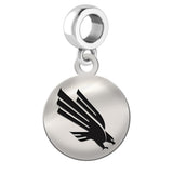 North Texas Eagles Round Drop Charm