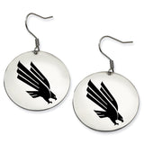 North Texas Mean Green Eagles Stainless Steel Disc Earrings