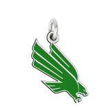 North Texas Mean Green Eagles Sterling Silver Logo Charm