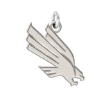 North Texas Mean Green Eagles Sterling Silver Natural Finish Charm
