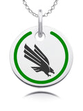 North Texas Mean Green Round Enamel Charm