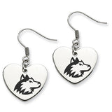 Northern Illinois Huskies Heart Drop Earrings