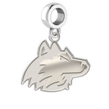 Northern Illinois Huskies Natural Finish Logo Dangle Charm