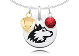 Northern Illinois Huskies Necklace with Charm Accents