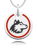 Northern Illinois Huskies Round Enamel Charm