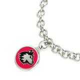 Northern Illinois Huskies Silver Charm Bracelet