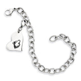 Northern Illinois Huskies Stainless Heart Bracelet