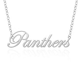 Northern Iowa Panthers Sterling Silver Cutout Script Necklace